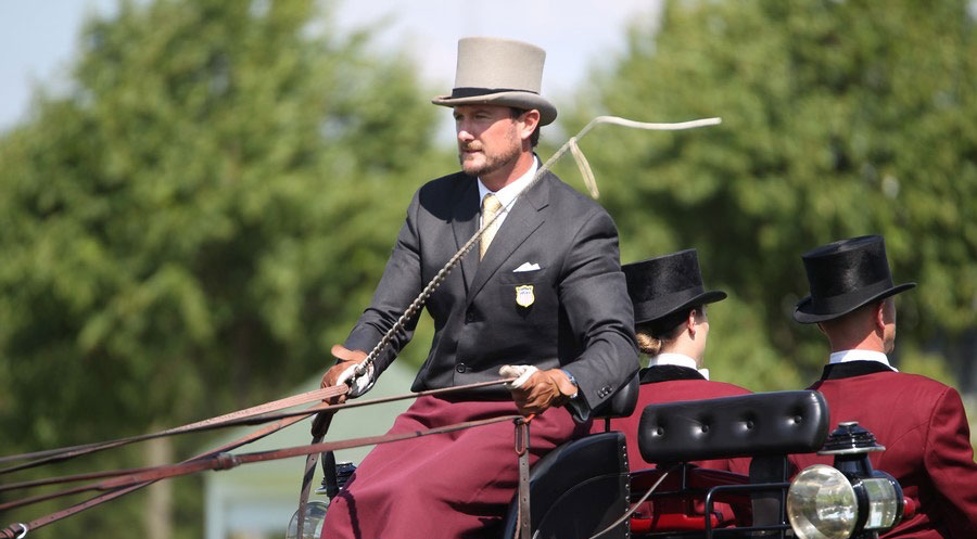 Chester Weber Drives to An Early Lead at  the 2015 Royal Windsor Horse Show