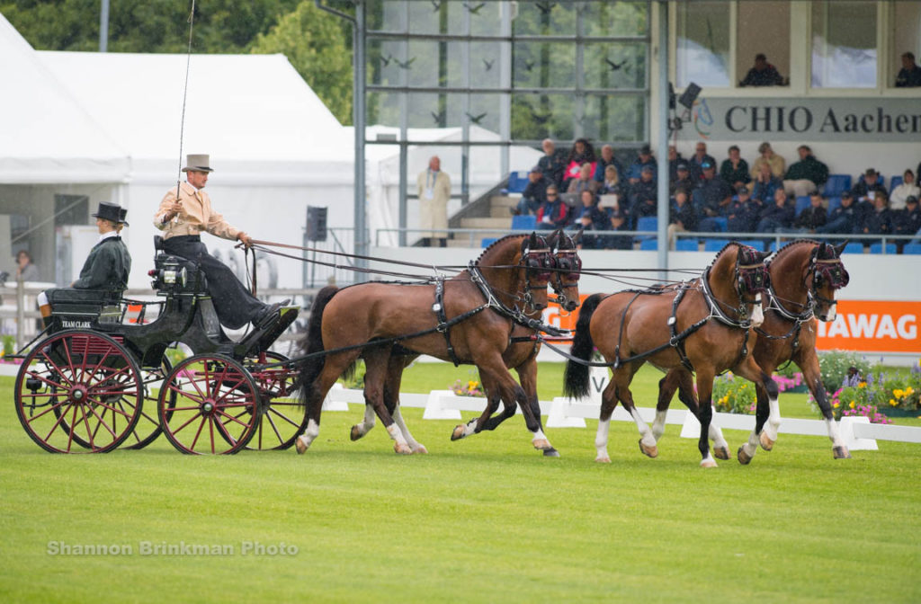 Chester Weber Drives in to Top Three after  Dressage Phase at CHIO Aachen
