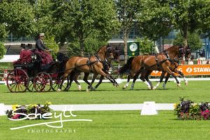 Chester Weber and his team on course at the CAIO4* Aachen. (Photo courtesy of Scheytt Photography)