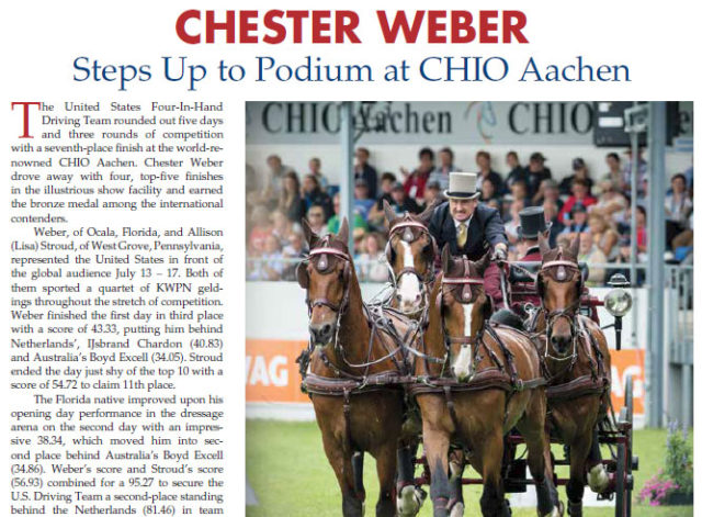 Chester Weber Steps Up to Podium at CHIO Aachen – USET Foundation