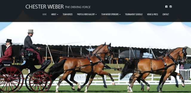 International Combined Driver Chester Weber Launches   New Website; 2017 Tournament Schedule Revealed